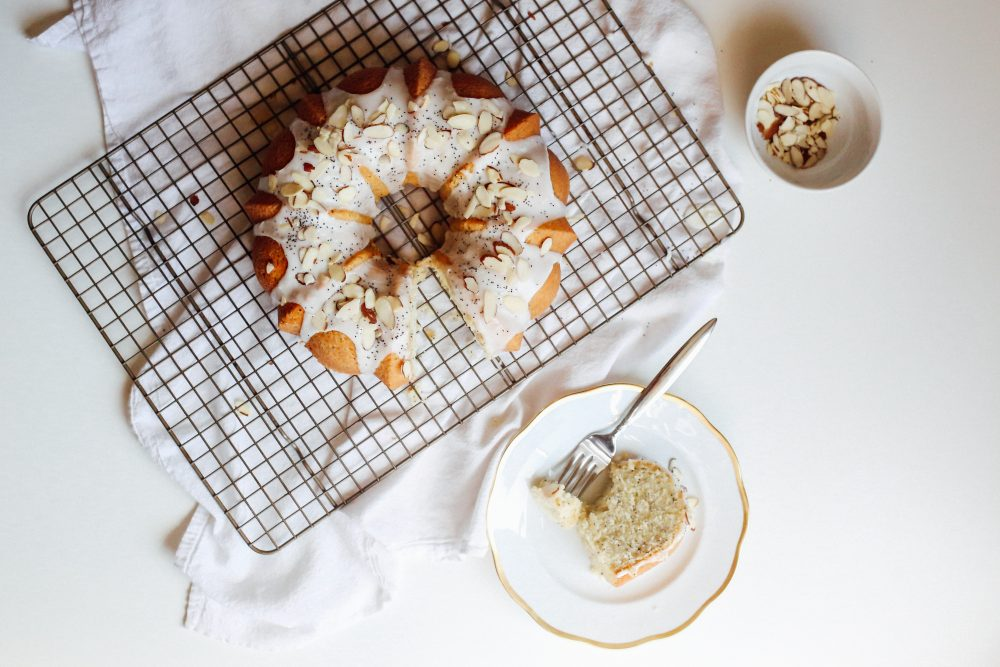 Lemon Almond Poppyseed Bundt Cake Recipe
