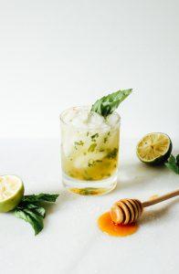 Honey Basil Margaritas