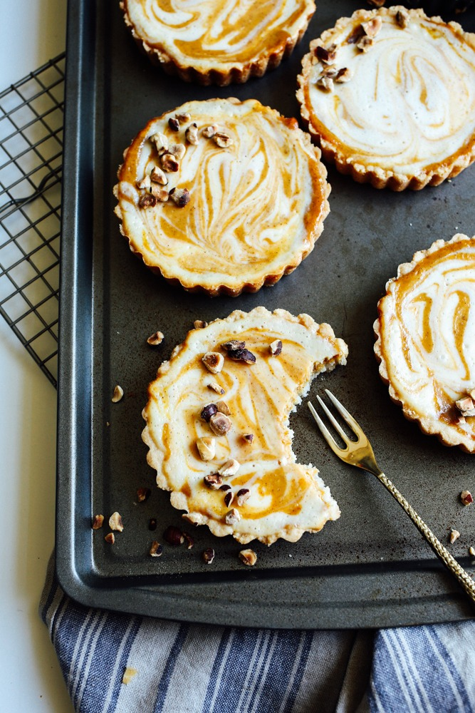 Pumpkin Cheesecake Tarts
