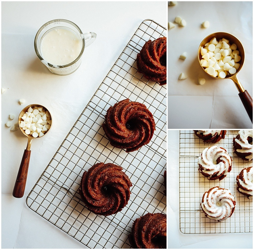 Ginger Molasses Bundt Cakes