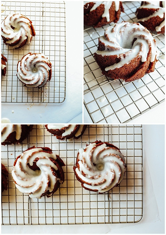 Ginger Molasses Bundt Cakes