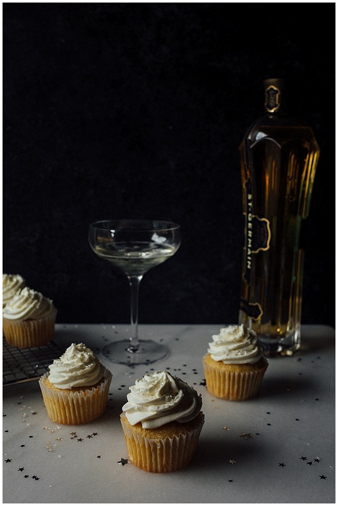 Champagne Elderflower Cupcakes