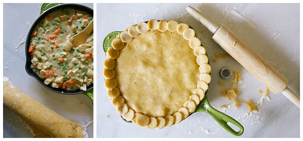 Cheddar Cornmeal Chicken Pot Pie