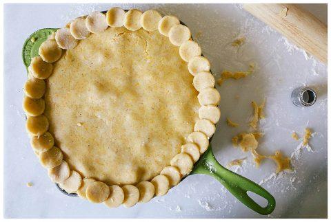 Cheddar Cornmeal Chicken Pot Pie