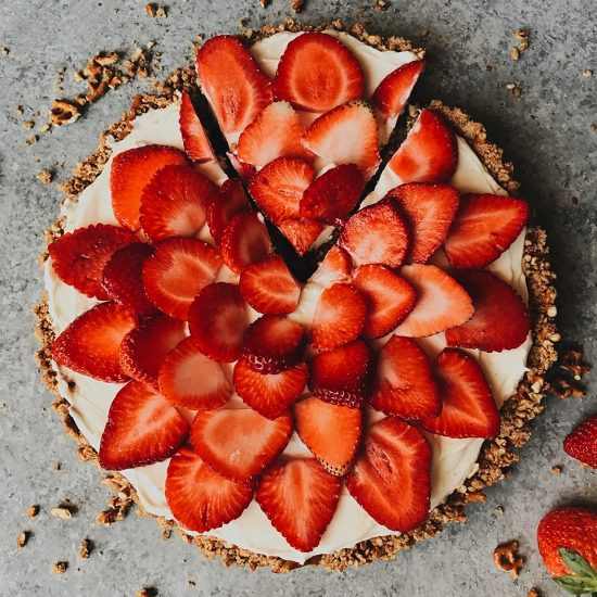 Strawberry Pretzel Tart