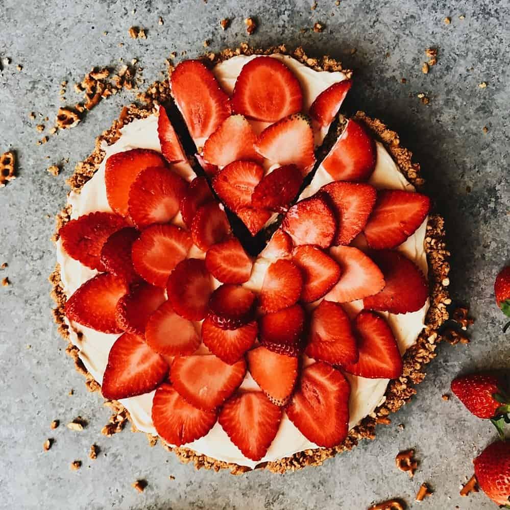 Almond Bundt Cake With Fresh Strawberries