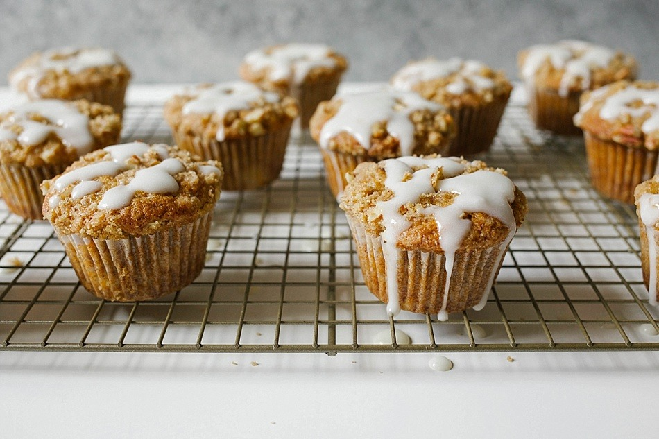 Hummingbird Muffins Recipe by thewoodandspoon.com . Crumb / streusel topped muffins based on the classic Southern hummingbird cake recipe, these muffins are filled with brown butter, banana, pineapple, brown sugar, and nuts. This recipe would be perfect for an Easter breakfast or brunch and are a great treat to share with friends. Simple, easy recipe glaze/drizzle based on Bake From Scratch Coffee Cake. By The Wood and Spoon Blog.