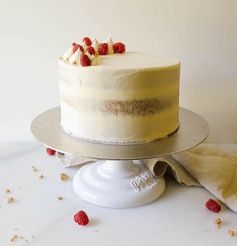 Raspberry Streusel Cake - Wood & Spoon
