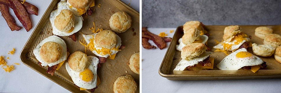 Buttermilk Biscuits and Pepper Bacon Egg and Cheese Biscuit Sandwiches. Flaky, all butter, Southern style biscuits with tons of layers topped with peppery bacon, cheddar cheese and a fried or scrambled egg. These breakfast sandwiches are perfect for the morning or brunch hour and makes a simple breakfast for the man / men in your life this Father's Day. Take these sandwiches on the go!