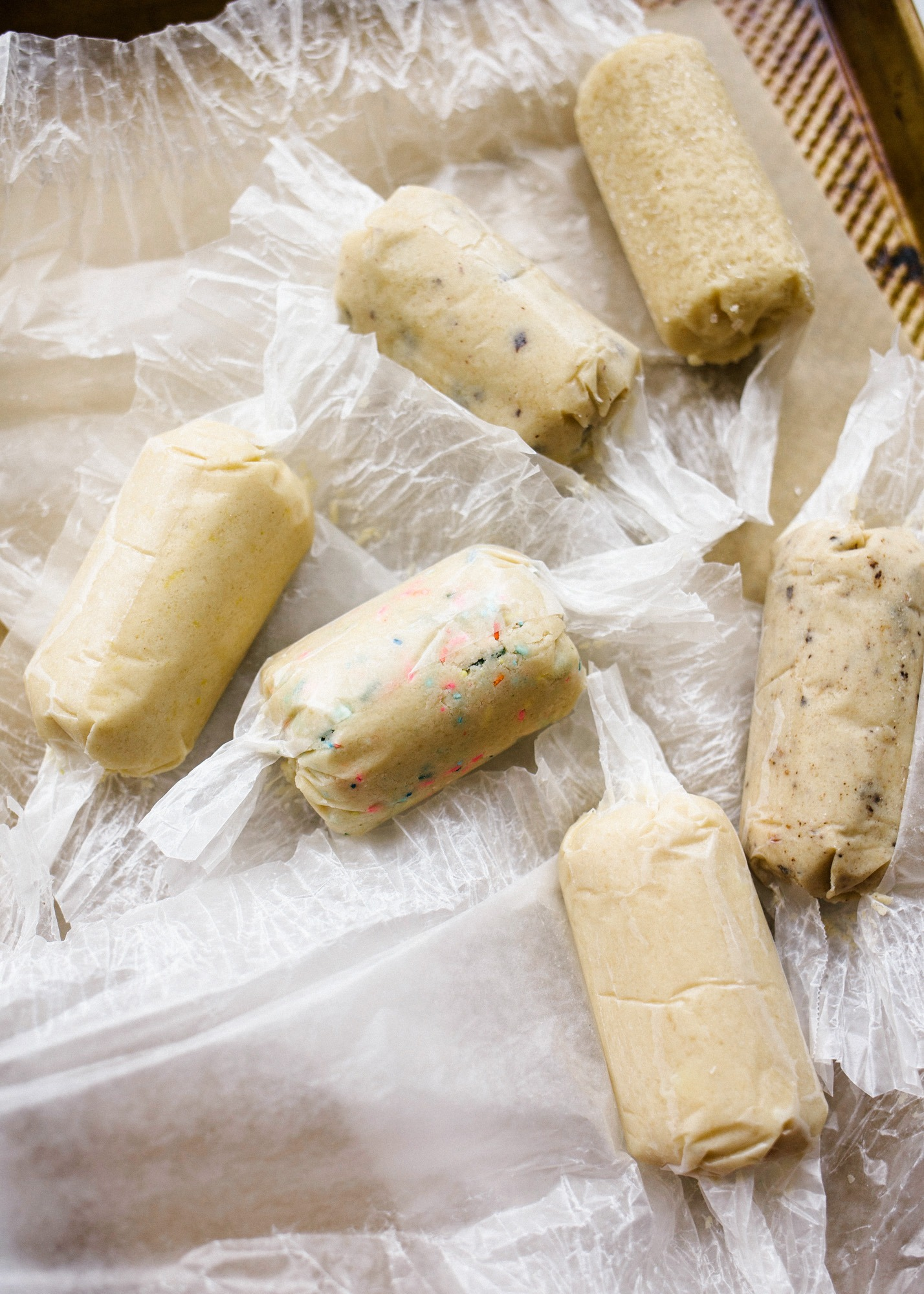 Shortbread Cookies by Wood and Spoon blog. These are simple all-butter shortbread cookies made quickly with tons of adaptions. Chocolate! Coffee! Lemon! Funfetti! Lavender! White Chocolate! Peppermint! The possibilities for these shortbread cookies are endless. Learn how easy it is to make your own adaptable shortbread cookies on thewoodandspoon.com
