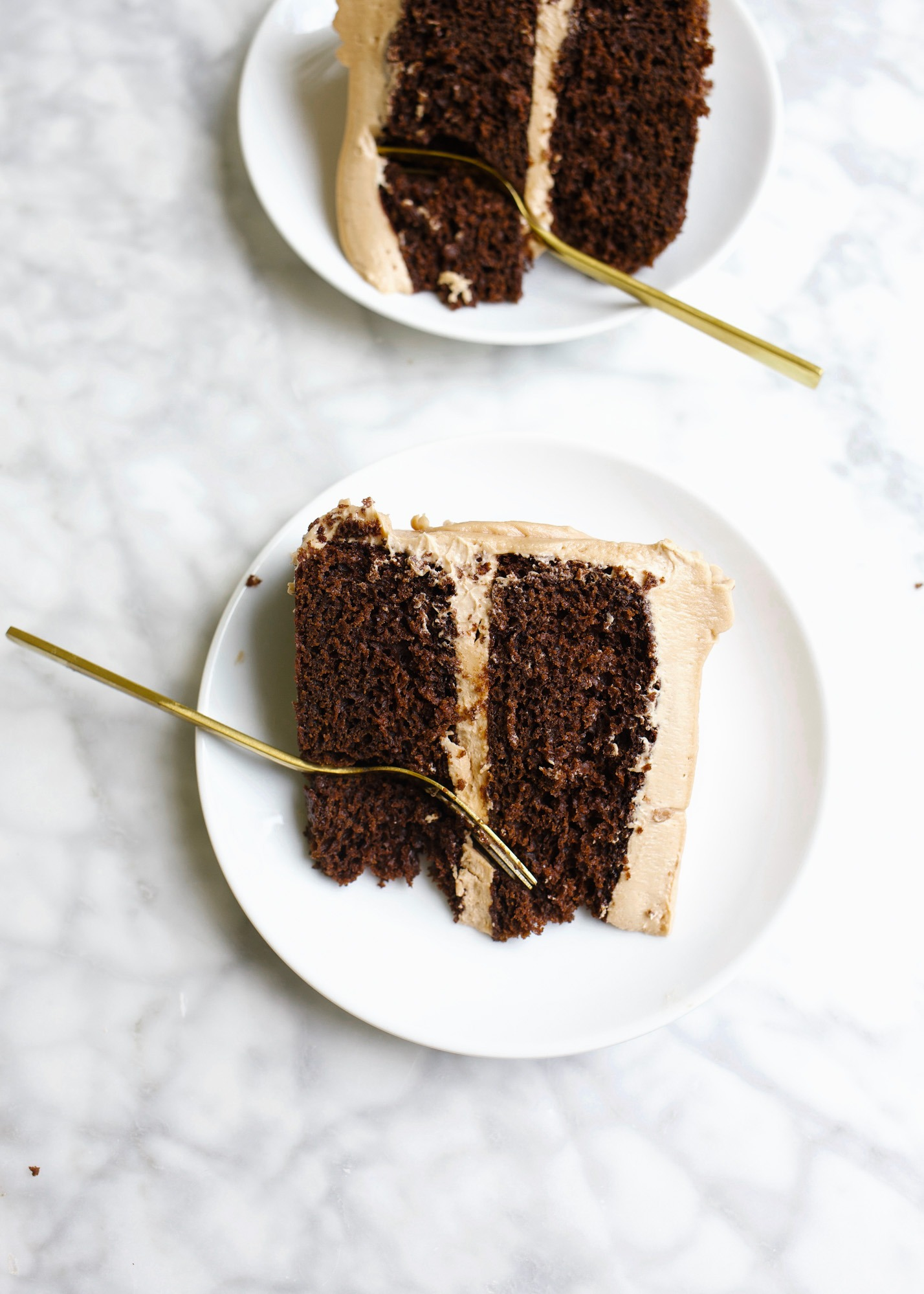 One-Bowl Chocolate Cake by Wood and Spoon blog. This is a simple fluffy cocoa powder layer cake topped with a fluffy whipped milk chocolate buttercream. If you need a go to chocolate cake recipe, this is the easiest one for beginners to try at home! Learn how simple chocolate layer cake is at home. Recipe from thewoodandspoon.com by Kate Wood