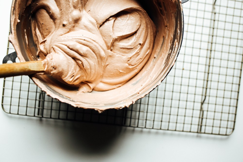 no-churn mocha brownie fudge ice cream