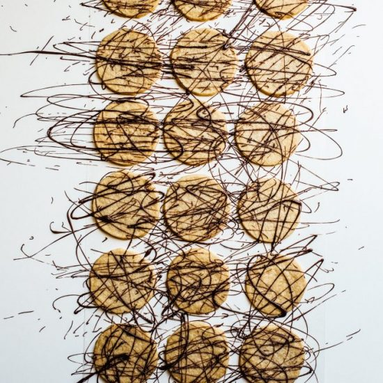 Brown Sugar Shortbread Cookies Recipe by The Wood and Spoon Blog BY Kate Wood. This is a simple crumbly butter cookie inspired by Emeril Lagasse brown sugar shortbread bars. Buttery cutout shortbread cookies that can be slice and make. Drizzle with chocolate or sprinkle with cinnamon and sugar. Find the simple, easy, few ingredient recipe at thewoodandspoon.com