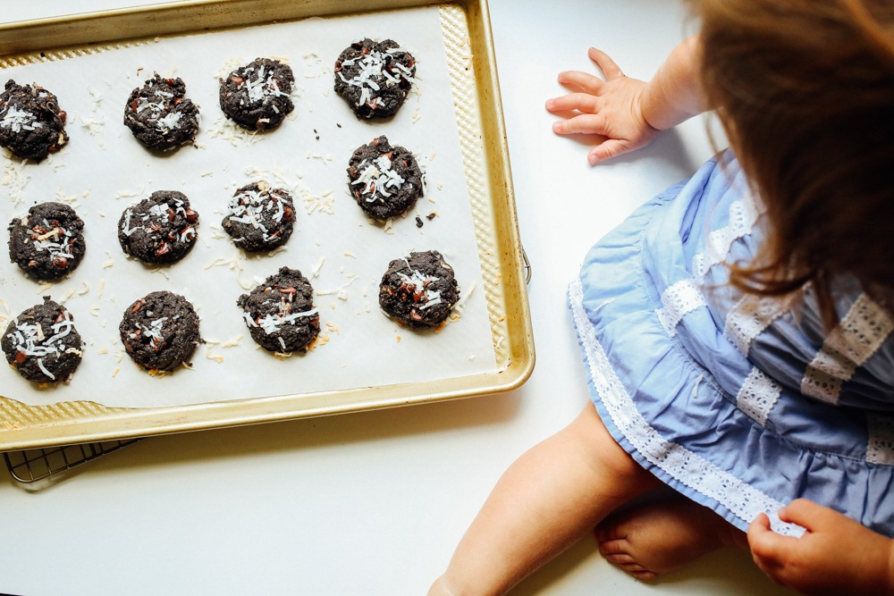 Coconut Almond Chocolate Cookies