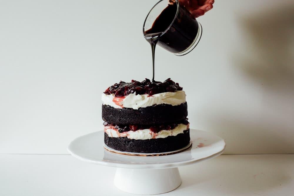 Black Forest Ice Cream Cake