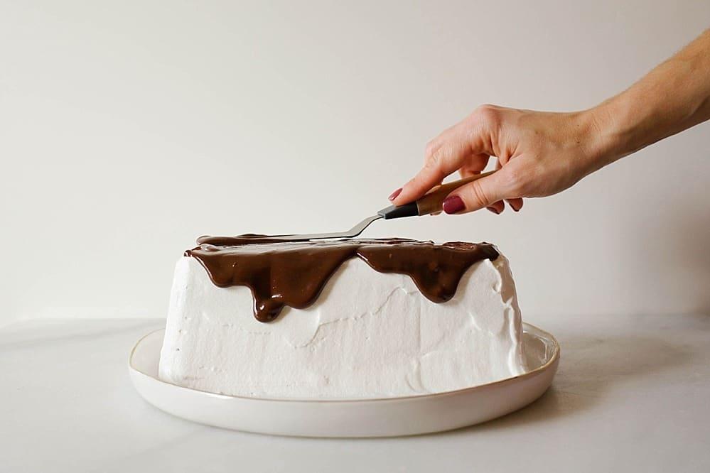 Mint Brownie Ice Cream Cake