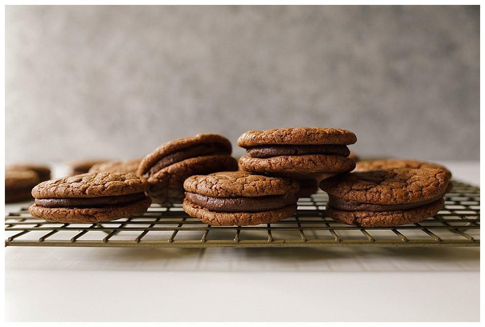Mint Chocolate Sandwich Cookies