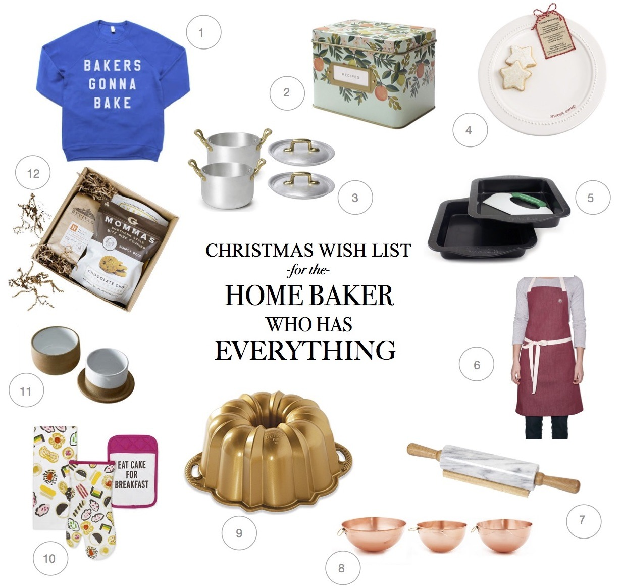 Holliday Gift Guide for the Baker who has everything. A Christmas wish list for the cook and foodie who who doesn't need a thing. What to buy for Christmas and presents guide.