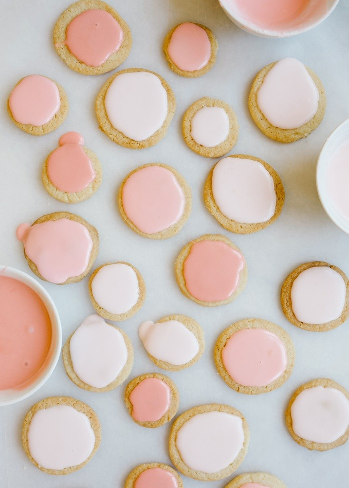 Citrus Shortbread Cookies by Wood and Spoon Blog. These are buttery cookies with zesty lemon, lime, or orange, and topped with a champagne glaze. You can use fruit juice to make the glaze instead if you prefer. These make excellent new year's eve party cookies or simple snacks to share with friends. Find the recipe on thewoodandspoon.com by Kate Wood