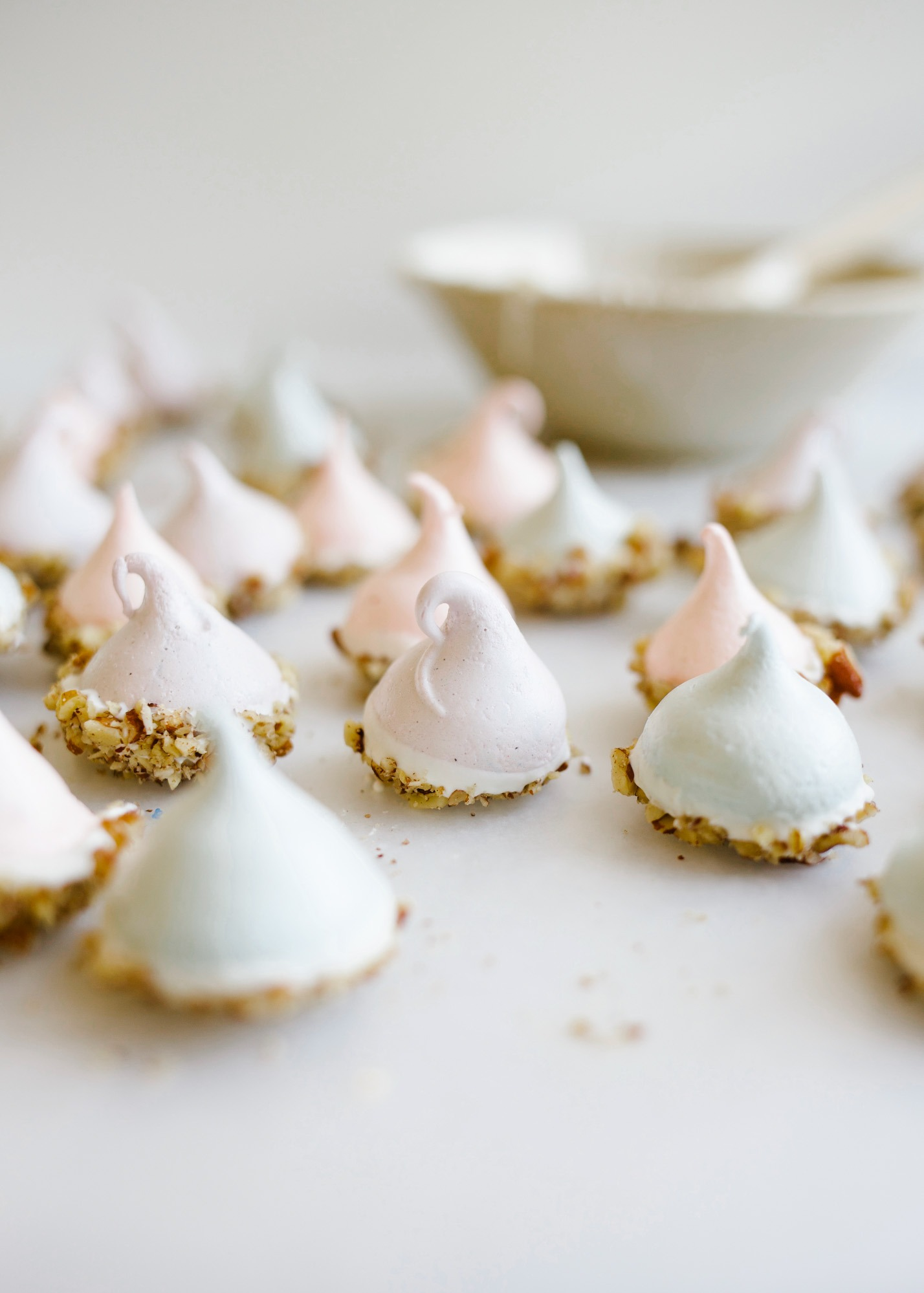 You Need to Know How to Whip Egg Whites and Make Meringue Cookies. This is a tutorial on whipping egg whites to firm, stiff, soft, or foamy peaks and how to make a meringue! Learn how to make easter resurrection cookies with pecans and how to troubleshoot what went wrong with your egg whites. Why did they defeat, not fluff up, not whip, etc. Learn how to use up egg whites in this tutorial post on thewoodandspoon.com by Kate Wood
