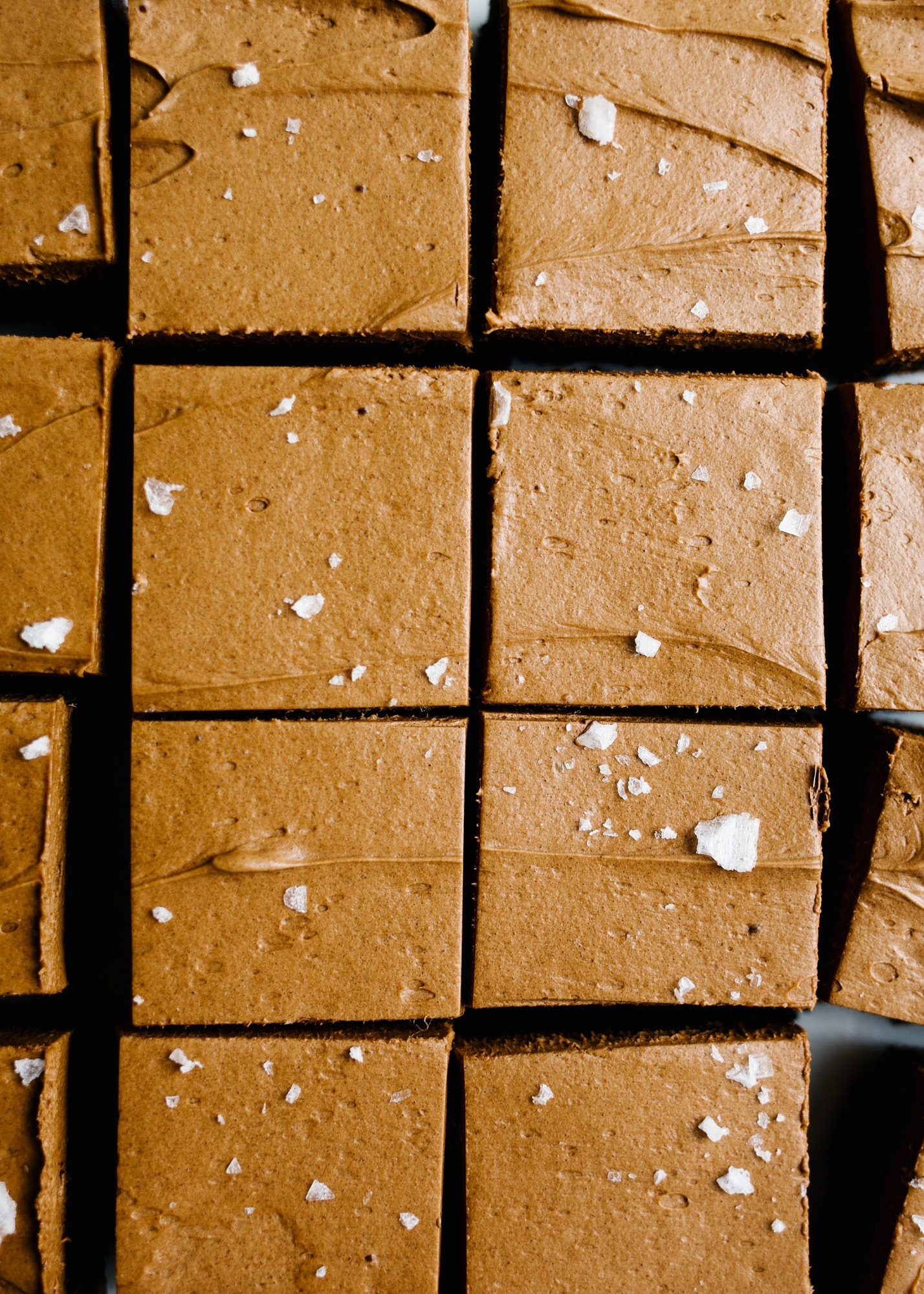 Caramel Ganache Brownies by Wood and Spoon. These are intensely chocolatey bars with a whipped caramel chocolate ganache topping and flaked sea salt. These brownies are made with butter, chopped chocolate, and just enough sugar for balance. The result is a dense and rich treat that is a perfect dessert all year round. Learn how to make these bars for a crowd on thewoodandspoon.com